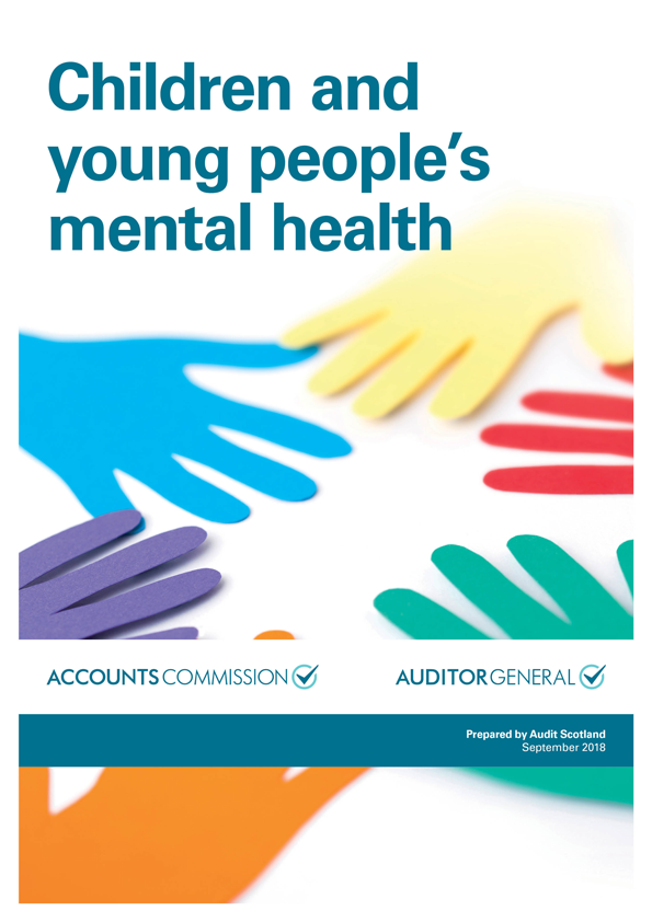 Report cover: Children and young people's mental health