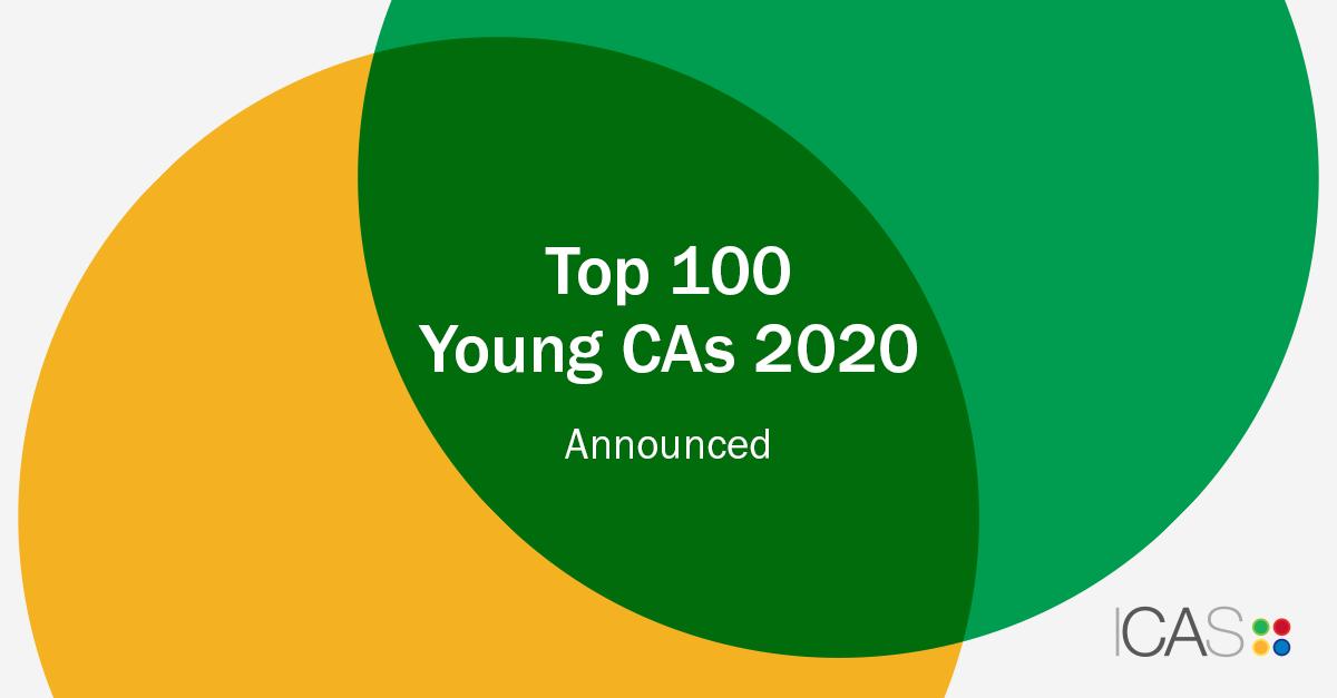 Top 100 Young CAs 2020 Announced